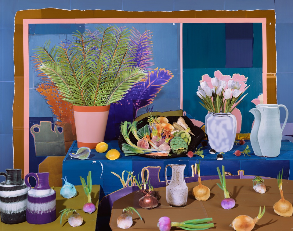 Daniel Gordon - Still Life with Vegetables and Tulips